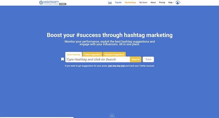 hashtagfy ferramenta instagram